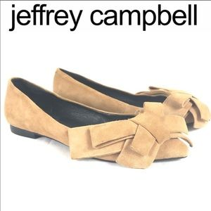 Jeffery Campbell pointed toe bow flats size 6